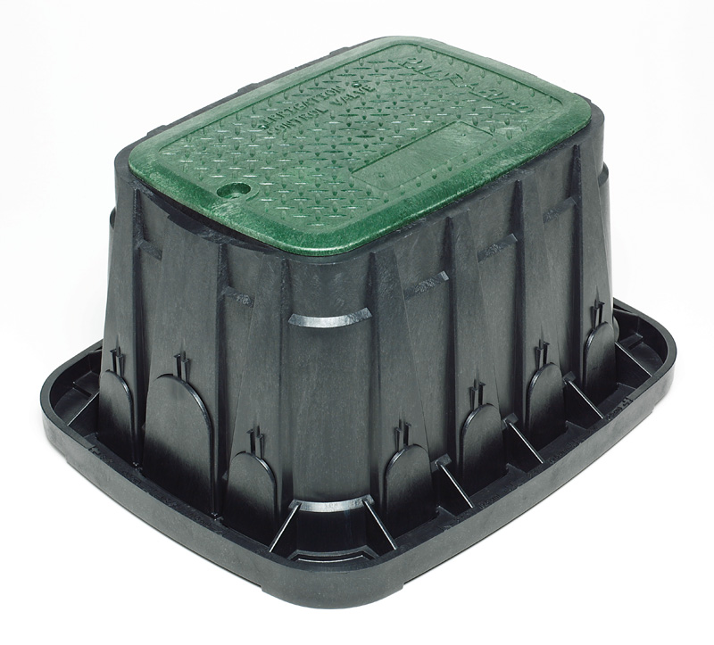 Rain Bird Valve Box Standard 1419-12 Green Lid